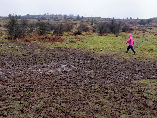Muddy patches en route