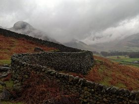 Snaking wall, Langdale Valley