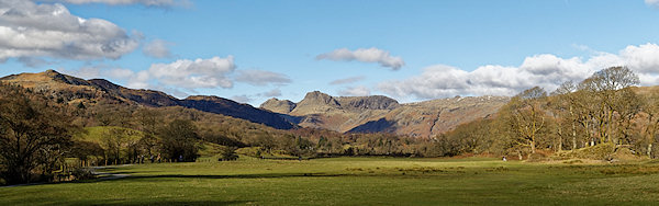 View of Langdale Pikes from near Ellter Water