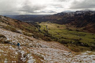 Looking down the Langdale Valley