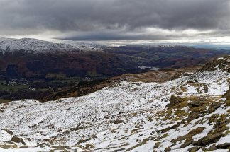 Looking towards Rydal Water from around Blea Rigg