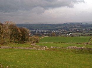 Looking down towards Kendal from Brigsteer Road