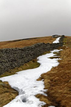 Last snow patches north of High Pike