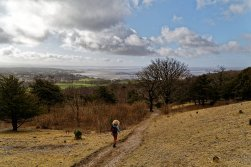 Walking down Heathwaite towards Morecambe Bay