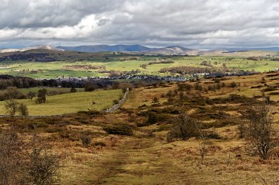 Scout Scar path looking towards Kendal