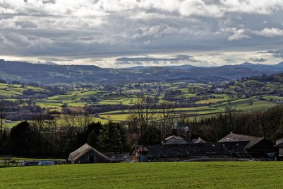 Lyth Valley with Bradleyfield farm in foreground