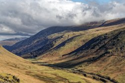 Dunmail Raise and Helvellyn in cloud