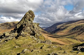 Helm Crag looking towards Dunmail Raise
