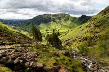 Stickle Ghyll and Langdale valley